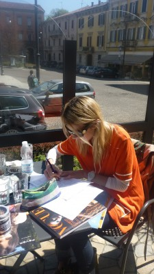 Sketching in the sunshine