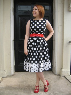 Dolly Clackett Fever Pansy Spot Dress