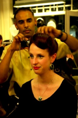 Vogue Fashion's Night Out  hair by Willis B