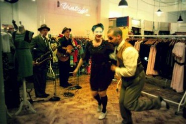 Vogue Fashion's Night Out Jitterbug Dancers