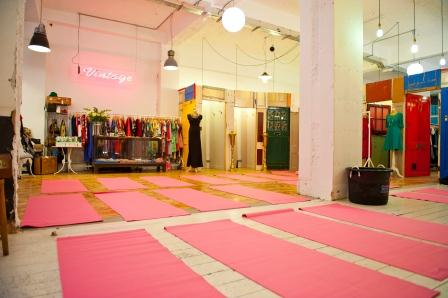 Yoga event held at Fever