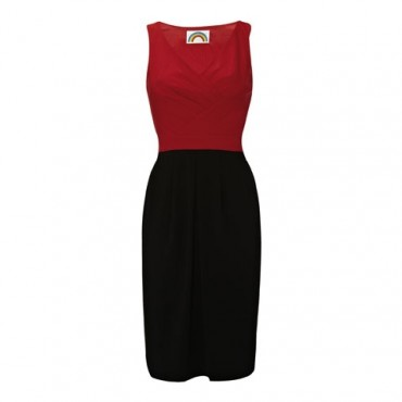 Bella dress_Red_Black