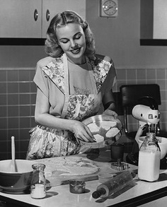 Another vintage woman baking