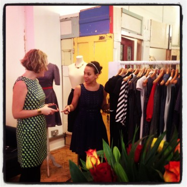 Zaz and lemon trying on SS14