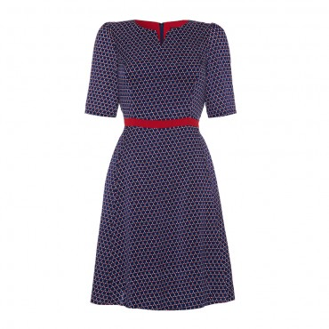 myanmar_fit_and_flare_dress_navy_frontview