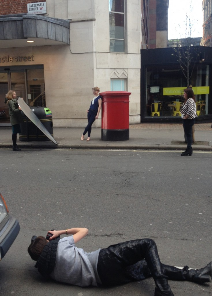 Liz being shot by postbox cropped