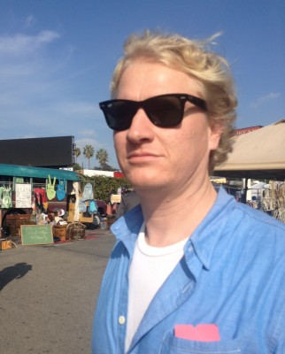 Matt at the flea market