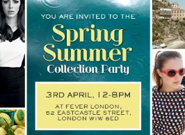 You are invited to... Our Spring Summer collection party!