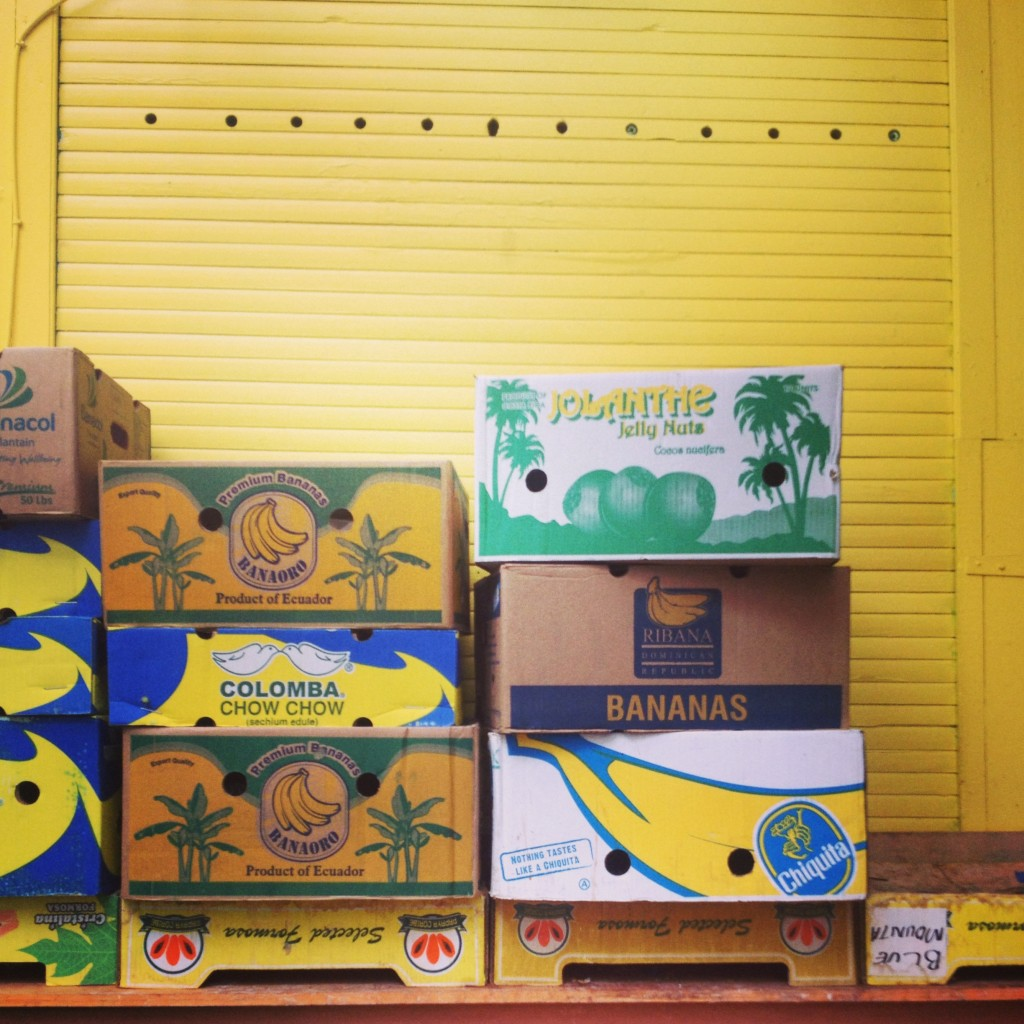 Banana boxes at Brixton market