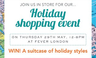 Summer Holiday shopping event: 29th May