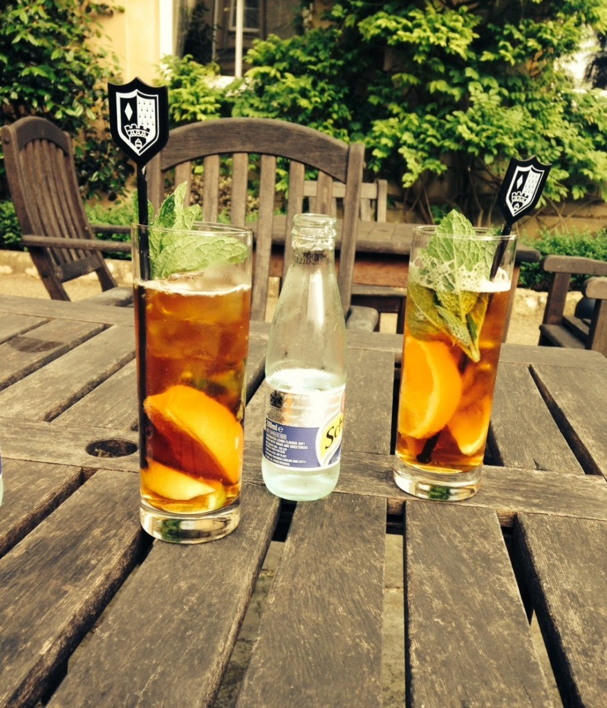 Pimms in bath
