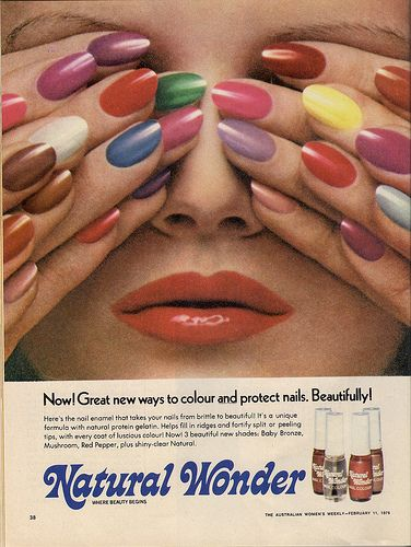 vintage nail varnish ad