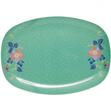 Melamine_Tray_Rectangle_floral_green