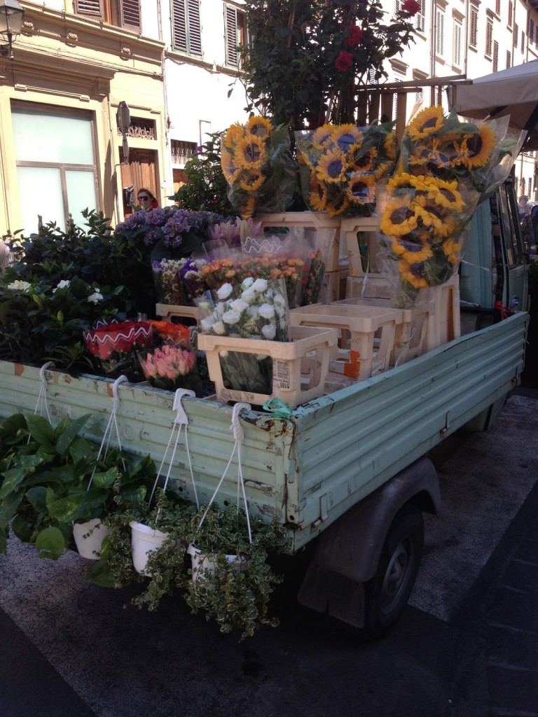 4b7093e0444ab Portable flower shop on the streets of Florence.