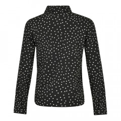 Adeline Blouse Black/Cream Spot