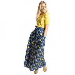 Cassie Maxi Skirt Navy Multi