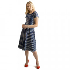 Rita Striped Dress Navy/Cream