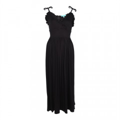 Edie Frill Maxi Dress Black