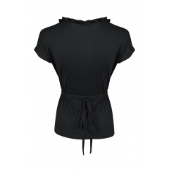 Edie Frill Top Black