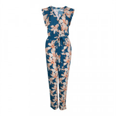 Kew Jumpsuit Dark Teal/Orange/Cream