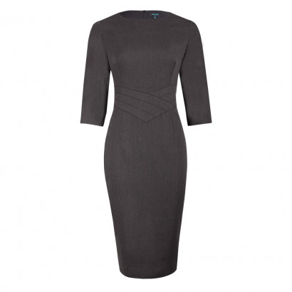 Harris Pencil Dress Charcoal