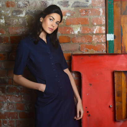 Nell Shirt Dress Indigo
