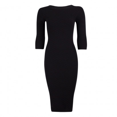 Valentina Knit Dress Black