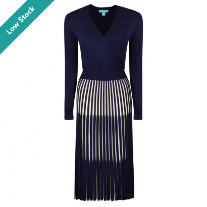Lila Dress Navy/Cream