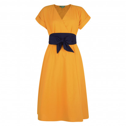 Natasha Wrap Dress Honey/Navy