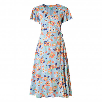 Polly Wrap Dress Multi Floral