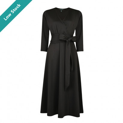 Rosalie Wrap Dress Black