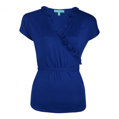 Edie Frill Top Sapphire