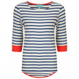 Brigitte Striped Top Cream/Navy/Red