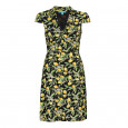 Lemon Blossom Shirt Dress Black/Yellow