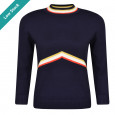 Saunton Top Navy Multi