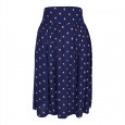 Instow Skirt Navy/Red/Cream