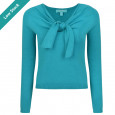 Zoey Tie Knit Top Teal
