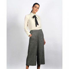 Aubrey Cropped Trousers Black/Cream