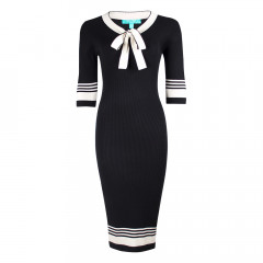 Leon Dress Black/Cream