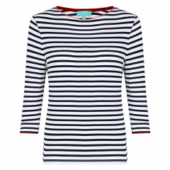 Bardot Piped Top Navy/White/Red PRE-ORDER
