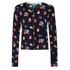 Ditsy Floral Cardigan Navy Multi