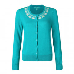 Ingrid Cardigan Jewel Green