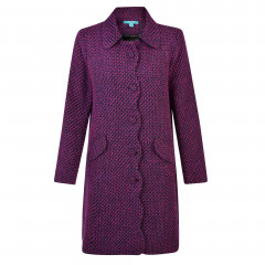 Lana Coat Navy/Raspberry