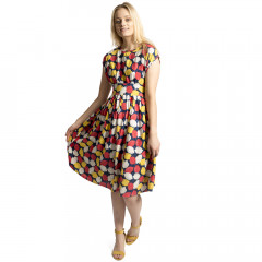 Lemonade Dress Navy Multi
