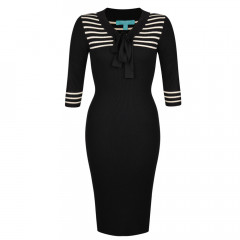 Lowell Dress Black/Cream