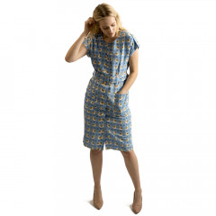 Lavinia Button Down Dress Sky