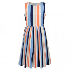 Stripe Round Neck Dress Multi Stripe