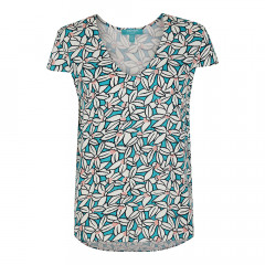 Antigua V Neck Top Jewel Green
