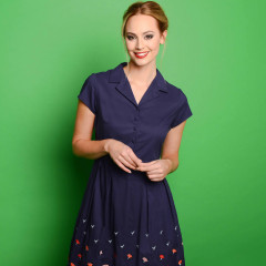 Elsie Shirt Dress Navy