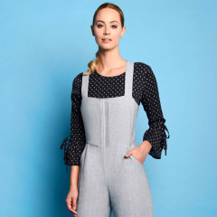 Juno Jumpsuit Black/White